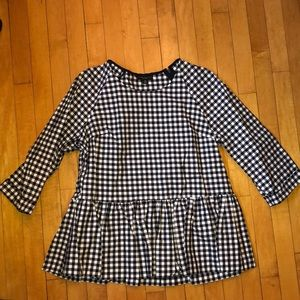Navy plaid Victoria Beckham for Target top